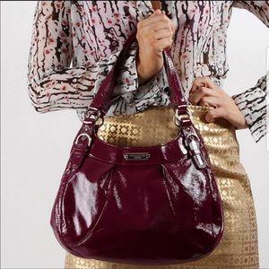 COACH Soho Berry Plum Patent Leather Hobo Like New